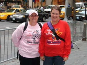 Chrissy & I in NYC for the Tunnel to Towers 5K 2010.