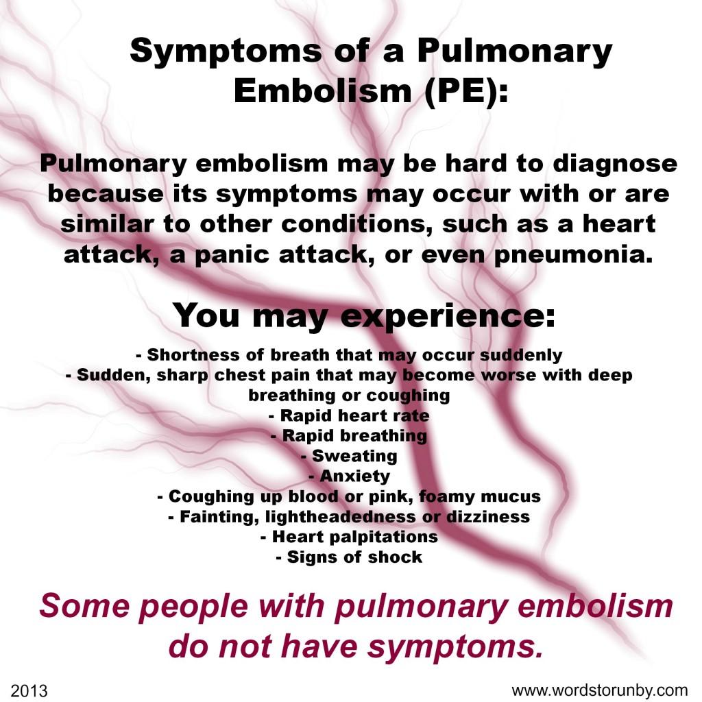 PE symptoms
