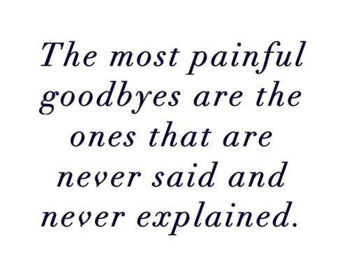 painful goodbye