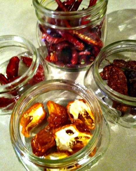 jars of peppers with open lids